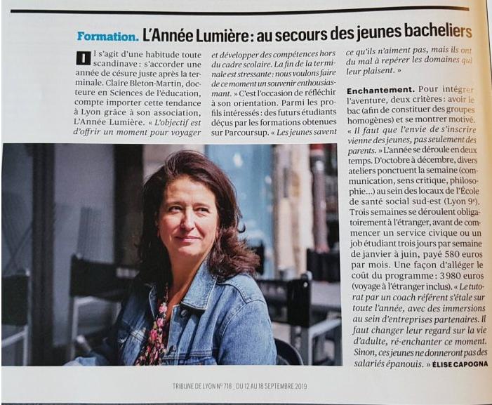 La tribune de Lyon 2019